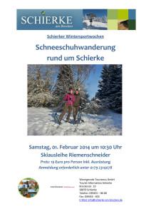 01.02.2014 Schneeschuhwanderung